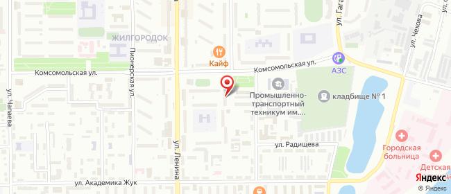Карта расположения пункта доставки Халва в городе Балаково