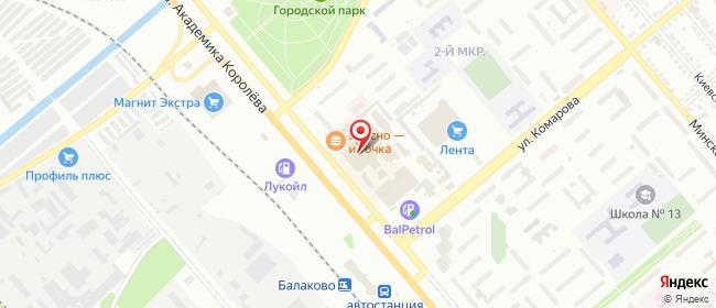 Карта расположения пункта доставки Билайн в городе Балаково