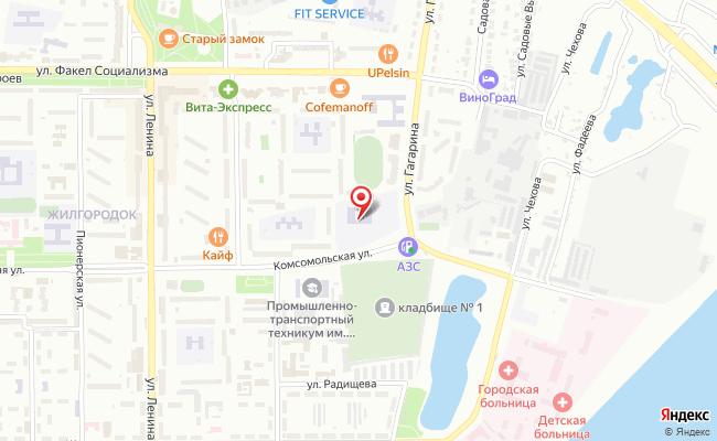 Карта расположения пункта доставки Пункт выдачи в городе Балаково