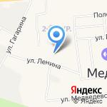 Медведевские бытовые услуги на карте Йошкар-Олы