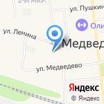 Магазин свежего хлеба на карте Йошкар-Олы