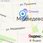 Медведевский хлеб на карте Йошкар-Олы