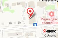 Схема проезда до компании Наша аптека в Медведево