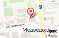 Схема проезда до компании Баттерфляй в Медведево