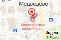 Схема проезда до компании Марий Эл-РОСНО-МС в Медведево