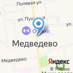 Казанский Посад на карте Йошкар-Олы