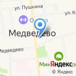 Администрация Медведевского муниципального района на карте Йошкар-Олы