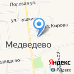 Московская ярмарка на карте Йошкар-Олы