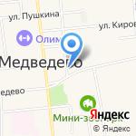 ЗАГС пос. Медведево на карте Йошкар-Олы