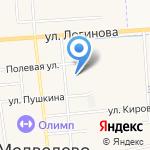 Колокольчик на карте Йошкар-Олы