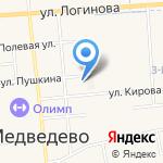 Ромашка на карте Йошкар-Олы