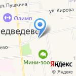 Центральная библиотека Медведевского района на карте Йошкар-Олы