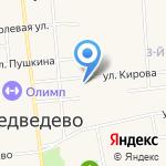 Медведевская гимназия на карте Йошкар-Олы