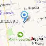 Центр занятости населения Медведевского района на карте Йошкар-Олы