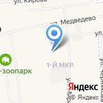 Медведевская средняя общеобразовательная школа №2 на карте Йошкар-Олы