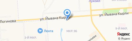 Мебельный салон на карте Йошкар-Олы