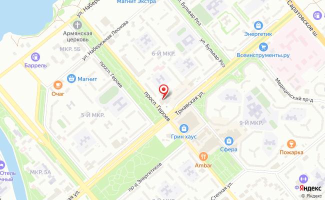 Карта расположения пункта доставки СИТИЛИНК в городе Балаково
