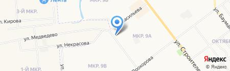 Автостоянка на Яна Крастыня на карте Йошкар-Олы