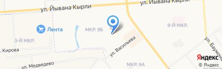 Центральный на карте Йошкар-Олы