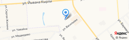 Аист на карте Йошкар-Олы