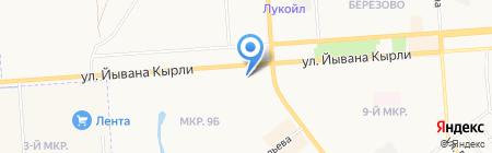 Ударник на карте Йошкар-Олы