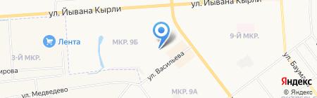 Сан на карте Йошкар-Олы
