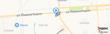 Белая Птица на карте Йошкар-Олы