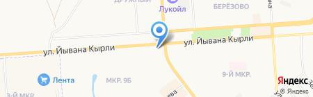 Апшерон на карте Йошкар-Олы