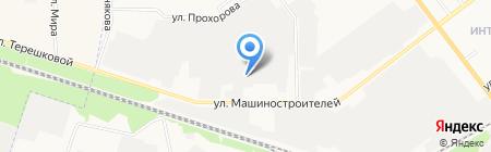Кабриолет на карте Йошкар-Олы