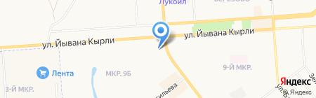 Скутер на карте Йошкар-Олы