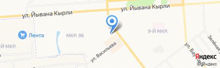 Полион на карте Йошкар-Олы