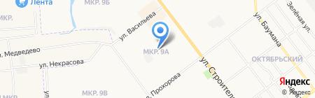 Детский сад №92 Искорка на карте Йошкар-Олы