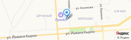 Автомойка 24 на карте Йошкар-Олы
