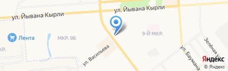 Детский на карте Йошкар-Олы