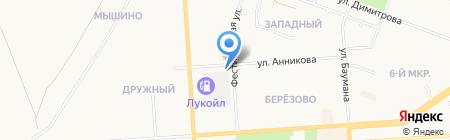 Футэн на карте Йошкар-Олы