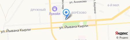 Мебельер на карте Йошкар-Олы