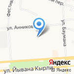 Средняя общеобразовательная школа №19 на карте Йошкар-Олы