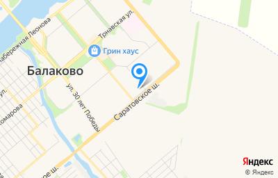 Местоположение на карте пункта техосмотра по адресу Саратовская обл, г Балаково, ул Саратовское шоссе, д 63/1