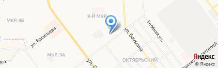 Оливия на карте Йошкар-Олы