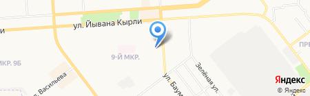 Средняя общеобразовательная школа №23 на карте Йошкар-Олы