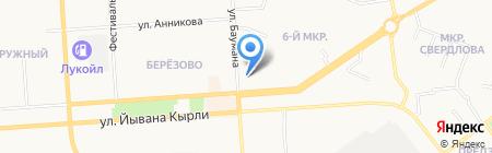 На Баумана на карте Йошкар-Олы