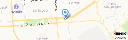 Посейдон на карте Йошкар-Олы