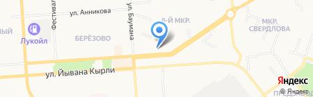 Лея на карте Йошкар-Олы
