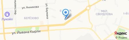 Бор Марий Эл на карте Йошкар-Олы