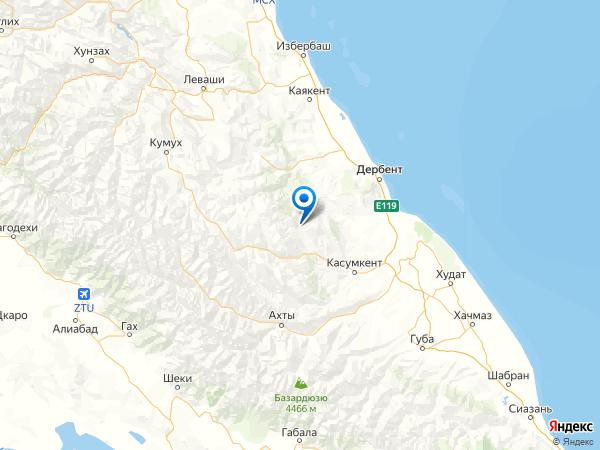 село Урга на карте