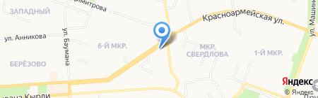 Визави на карте Йошкар-Олы