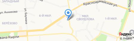Алекс-сити на карте Йошкар-Олы