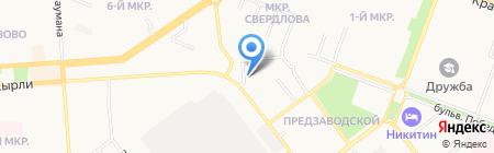 Славянка на карте Йошкар-Олы