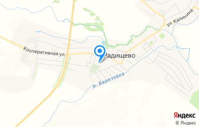 Местоположение на карте пункта техосмотра по адресу Ульяновская обл, рп Радищево, ул Советская, д 110