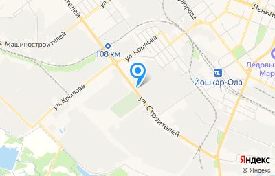 Местоположение на карте пункта техосмотра по адресу г Йошкар-Ола, ул Строителей, д 95Б